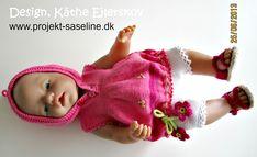 8f99020f132 Baby born opskrifter 43 cm. Korte bukser med blondekant i benene samt  tunika uden ærmer