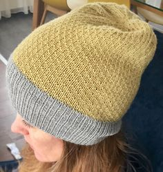Free Knitting Pattern for Audrey Hat - Easy hat with a simple subtle texture. Designed by Zsuzsanna Orthodoxou.