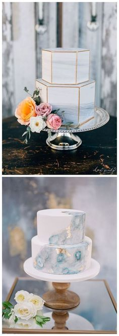 Marble wedding cake ideas ❤️ www.deerpearlflow… Decoration Craft Gallery Ideas] Related posts:The Genoese of Aline Costa & # - perfect for the Cake Design Pub .rose rose ideas cake designs buttercream birthday for 2019 Wedding Cakes With Flowers, Cool Wedding Cakes, Wedding Cake Designs, Wedding Cake Toppers, Art Deco Wedding Cakes, Beach Wedding Cakes, Wedding Cake Gold, Hexagon Wedding Cake, Wedding Sweets
