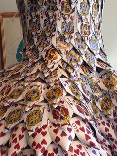 Detail of Playing Card dress