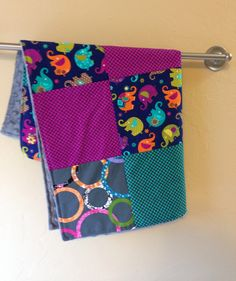 Cotton and minky security blanket  Moda