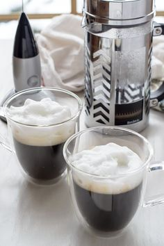 Win a French press coffee maker, milk frother, and latte cup set with this great #giveaway!