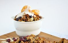 Recipe: Holiday spiced fruit granola    Ingredients:    1 ¼ cup oats  2 tbs chia seeds  1 cup hazel nuts (or any nut mix)  ¼ cup flakes almonds  ¼ cup mincemeat  1 tsp vanilla extract  ½ tsp rum extract to taste- optional  1 tbs orange zest (or ½ tsp extract if no zest)  1 tsp ground cinnamon  ½ tsp ground mixed spice  2 tbs coconut oil- melted  2 tbs rapadura (or other unrefined sugar) or more to taste  ½ cup cranberries or other dried fruits mixed through once cooked- optional  including…