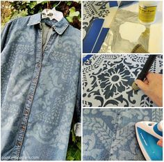 How to Bleach and Stencil a Denim Jacket Project Homesteading - The Homestead Survival .Com