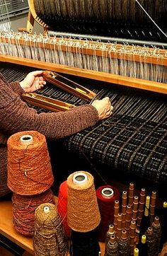 "044. Arlene Wohl: ""I love the idea and the process of selecting distinct yarns and weaving them into a cloth so that the whole is greater than the sum of its parts, each strand having lost a little of its identity as it contributes, offering itself to the cloth. www.arlenewohl.com"