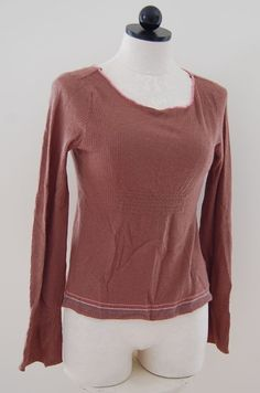 Marc Jacobs 100% Cashmere Brown Ribbed Scoop Neck Sweater XS #MarcJacobs #ScoopNeck