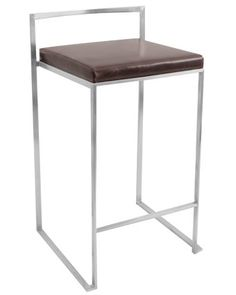 Fuji Stackable Counter Stool in Brown  Set of 2 https://kitchenbarstools.life/fuji-stackable-counter-stool-in-brown-set-of-2/
