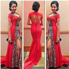 Creative Nigeria Ankara Wedding Gown