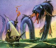 File:Angus McBride - Sea Serpent.jpg - Tolkien Gateway