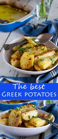 I rarely claim anything to be 'the best' but these really are THE BEST GREEK POTATOES! Super lemony crispy and creamy all at the same time! Vegetable Recipes, Vegetarian Recipes, Healthy Recipes, Best Potato Recipes, Healthy Eats, Side Dishes Easy, Side Dish Recipes, Grilling Recipes, Cooking Recipes