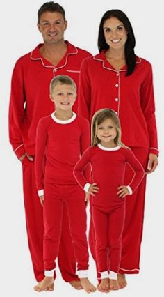 1a60839e71 SleepytimePjs Family Matching Holiday Red Stretch Pajamas PJs Sets for  Family  Clothing Amazon http