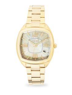 Fendi Momento Fendi Mother-Of-Pearl & Goldtone Stainless Steel Bracelet Watch