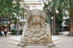 A symbol of Elche town - Dama de Elche monument founded at the beginning of XX century by a French archeologist. At 2006 it was returned to Elche, Alicante, Spain