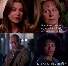 You are now realizing that Ellis Grey was actually talking about Maggie and not about Meredith in S3E8. Grey's Anatomy