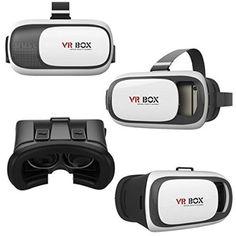 Asnlove 2ND VR BOX Gafas de 3D Videos Juego Google Cartón VR 3D Realidad Virtual VR Caja para Samsung A3 A5 J5 S3 S4 S5 S6 iPhone 5 5s 6 plus compatible 4.7-6.1 inch