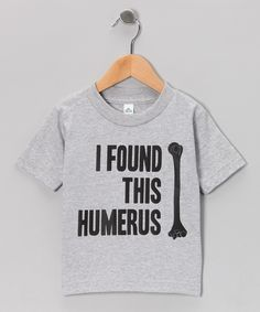 KidTeeZ Athletic Heather 'Humerus' Tee - I think this would be fun for my archaeology friends if they made it in adult sizes...