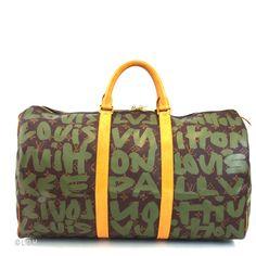 Pretty Object: Louis Vuitton Graffiti Keepall 50 $1,799.00