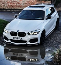 """Frazer King no Instagram: """"Front end Friday at the watering hole . . . 📸 @d12rjm @platefather #bmw #m140i #m140 #shadowedition #mperformance #1series #rwd #white…"""" Bmw 116i, Bmw White, 135i, Bmw 1 Series, Automotive Photography, Car Manufacturers, Custom Cars, Cars And Motorcycles, Luxury Cars"""