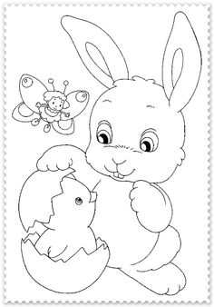 paste Easter Bunny Colouring, Easter Coloring Pages, Printable Coloring Pages, Colouring Pages, Coloring Pages For Kids, Coloring Books, Easter Art, Easter Crafts, Crafts For Kids