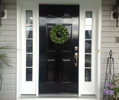 Black Door Paint   Lessons Learned  Best tips on painting your front door to get professional results!