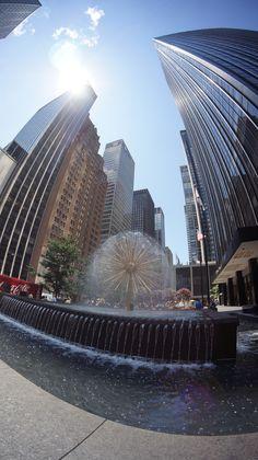 Dandelion Fountain, New York, USA