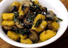 Receita: Noque de Abóbora com Cogumelos Salteados e Manteiga de Sálvia » Sem Medida -