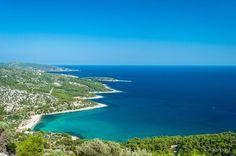 Coast of island of Thassos Greece [1024x680][OC] http://ift.tt/2a8iV8f @tachyeonz