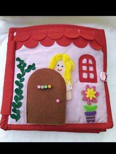 Dollhouse Quiet Book for girl , Pretend to be a Girl House Toy , Personalized Quiet Book by BabySenses on Etsy