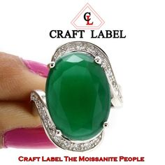 """4.50 Ct Oval Cut Green Emerald 14K Gold Halo Bypass Engagement Ring """"Mother\'s Day Gift"""". Starting at $1"""