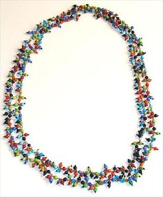 Glass Bead Necklace  	$25.00