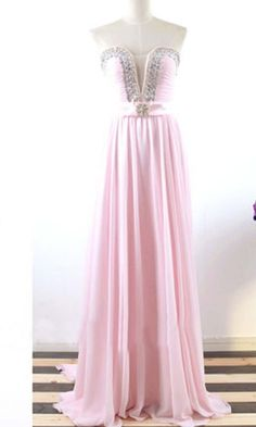 LJ23 New Arrival Pink Prom Dress,Chiffon Prom Dresses,Beading