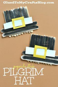 Popsicle Stick Pilgrim Hat - Kid Craft