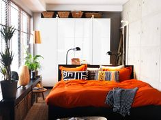 Burnt Orange is the chosen colour scheme for the bedroom. Now to find the products to create this haven.