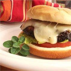 Portobello Mushroom Burgers   The steak of veggie burgers. Serve on a bun with lettuce, tomato, and aioli sauce. Oh yeah!
