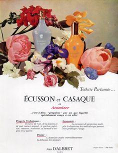 Jean d'Albret (Perfumes) 1959 Ecusson & Casaque Vintage advert Perfumes   Hprints.com