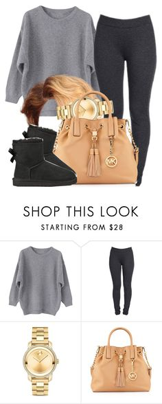 """Chiilin with friends-Cecelia"" by trillest-queen ❤ liked on Polyvore featuring NYDJ, Movado, MICHAEL Michael Kors and UGG Australia"