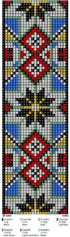 bringeklut 143 C belte Bead Loom Patterns, Peyote Patterns, Weaving Patterns, Jewelry Patterns, Cross Stitch Patterns, Native Beadwork, Bead Loom Bracelets, Beaded Cross Stitch, Tapestry Crochet