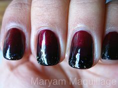 black red ombre