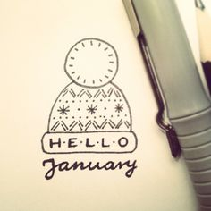 hello january ! // my daily doodle challenge #1 // by saratelka