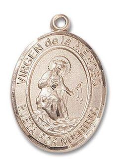 14kt Gold Virgen de la Merced Medal 7289SPKT