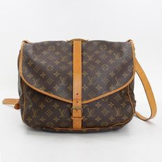 Louis Vuitton Saumur 35 Monogram Shoulder bags Brown Canvas M42254