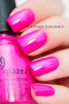 * China Glaze Purple Panic 70290 | Summer 2005 Nervy Neons Collection | Polished Elegance