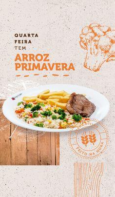 Branding // Divino Arroz on Behance Food Graphic Design, Food Menu Design, Bbc Good Food Recipes, Healthy Recipes, Comidas Fitness, Restaurant Poster, Food Promotion, Food Banner, Modern Food