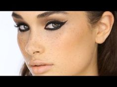 Dramatic Black 'Cat-Eye' Liner Look...the fact that the model was Jamaican was a surprise plus lol