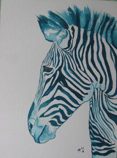 watercolor Watercolor Animals, Watercolor Art, Zebra Drawing, African Animals, Safari, Drawings, Girls, Room, Diy