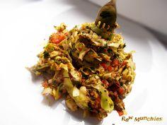 Raw Vegan Simple Tomato Pasta   Rawmunchies.org  #RECIPE HERE: http://www.rawmunchies.org/recipes #Raw #vegan #rawvegan #glutenfree #rawvegannoodles #pasta #noodles #dehydrated