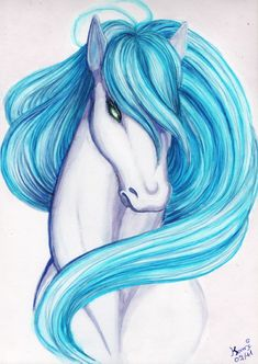 Watercolor horse – kami drawing posted on tvhland Horse Pencil Drawing, Pencil Drawings, Pop Art Wallpaper, Watercolor Horse, Unicorn Pictures, Art Drawings For Kids, Creature Drawings, Unicorn Art, Chalk Art