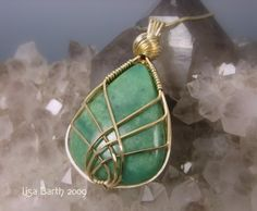wire jewelry...make without the stone as an empty cage