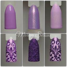 Glitter 3d print nail