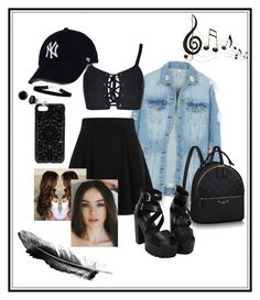 """""""Untitled #27"""" by elsa-ebervik on Polyvore featuring LE3NO, River Island, Felony Case and Benzara"""